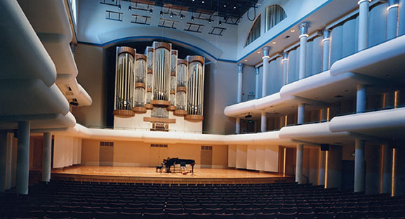 Interior of the Moody Music Concert Hall