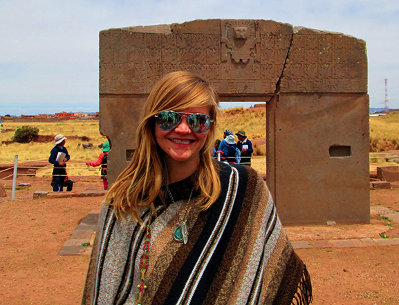 Elyse Peters was the recipient of a fellowship with the Environmental Protection Agency. As part of her fellowship, she traveled to Bolivia, where she learned about legislation that gives ecosystems the same rights as humans.