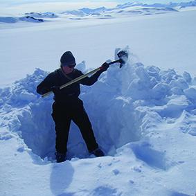 Dr. Samantha Hansen in Antarctica