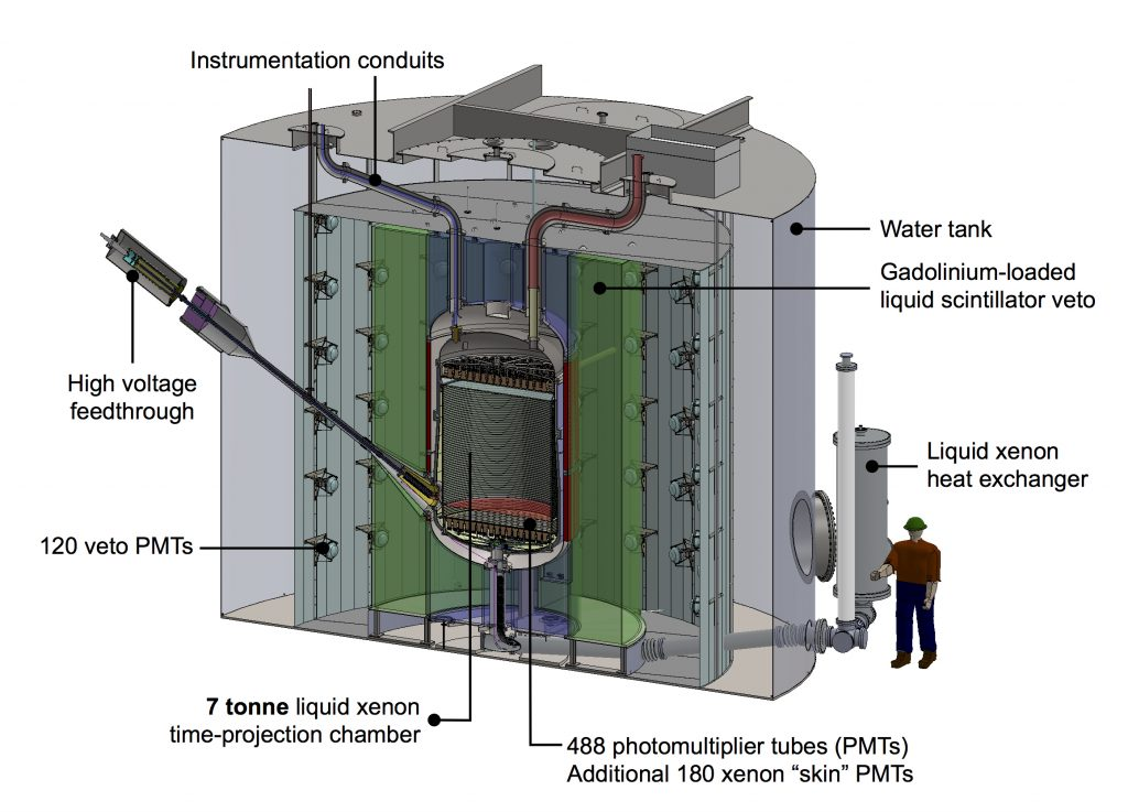 A 3D rendering of the detector