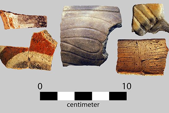 Part of Porth's NSF grant allows him to have sherds chemically compared in order to learn which ones were made locally and which ones weren't.
