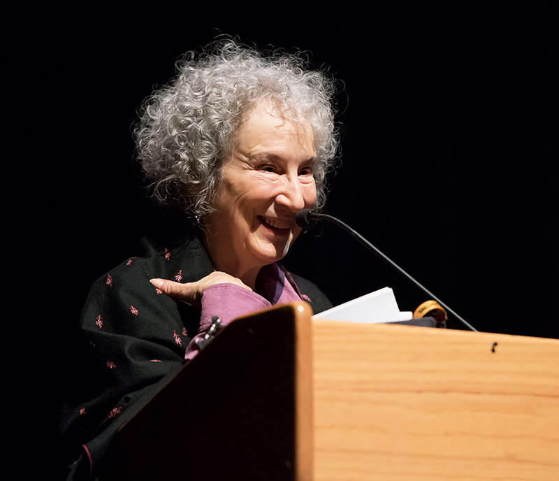 Award-winning author Margaret Atwood speaking as part of the Bankhead Visiting Writers