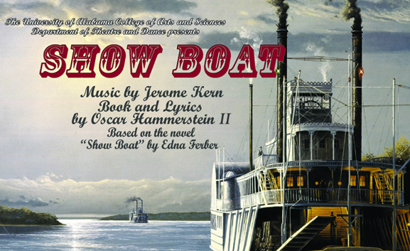 """Poster for the musical """"Show Boat"""""""