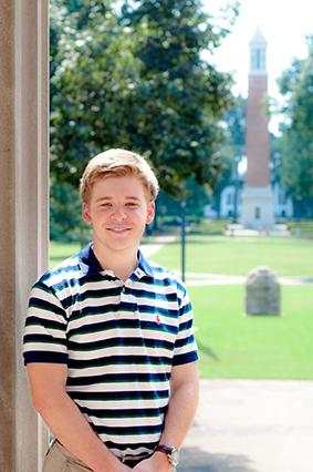 Zac Adams, a junior at UA