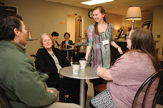 Bama Perks is a coffee shop at UA's Speech and Hearing Center that is designed to help aphasia clients get their confidence back.