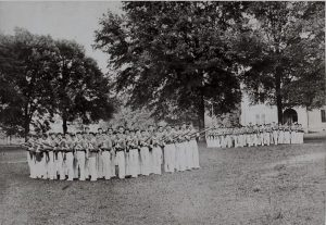 civil war troops on the UA campus