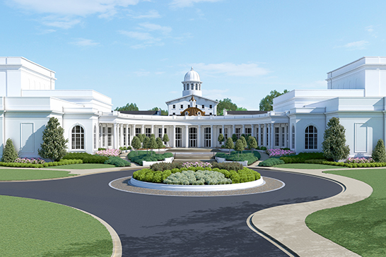 A rendering of the new performing arts academic center.