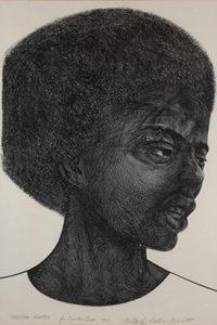 Calvin Burnett, Freedom Fighter, 1967. Lithograph. Paul R. Jones Collection, PJ2008.0151. © Estate of Calvin Burnett/Licensed by VAGA, New York, NY