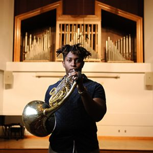 Joshua Williams won first place in the International Horn Competition of America in 2017.