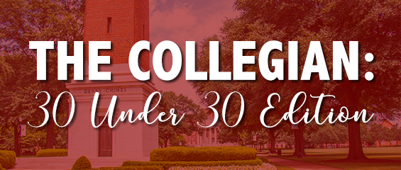 banner with the words The Collegian: 30 Under 30 Edition