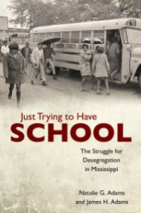 "Dr. Natalie Adams's new book, ""Just Trying to Have School,"" will be published this fall."
