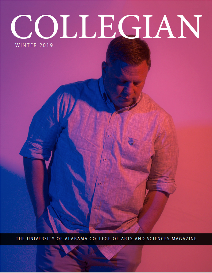 The cover of the winter 2019 issue of the Collegian.