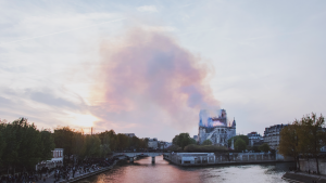 Notre Dame Cathedral in Paris caught fire on April 15, 2019, destroying a section of the cathedral.