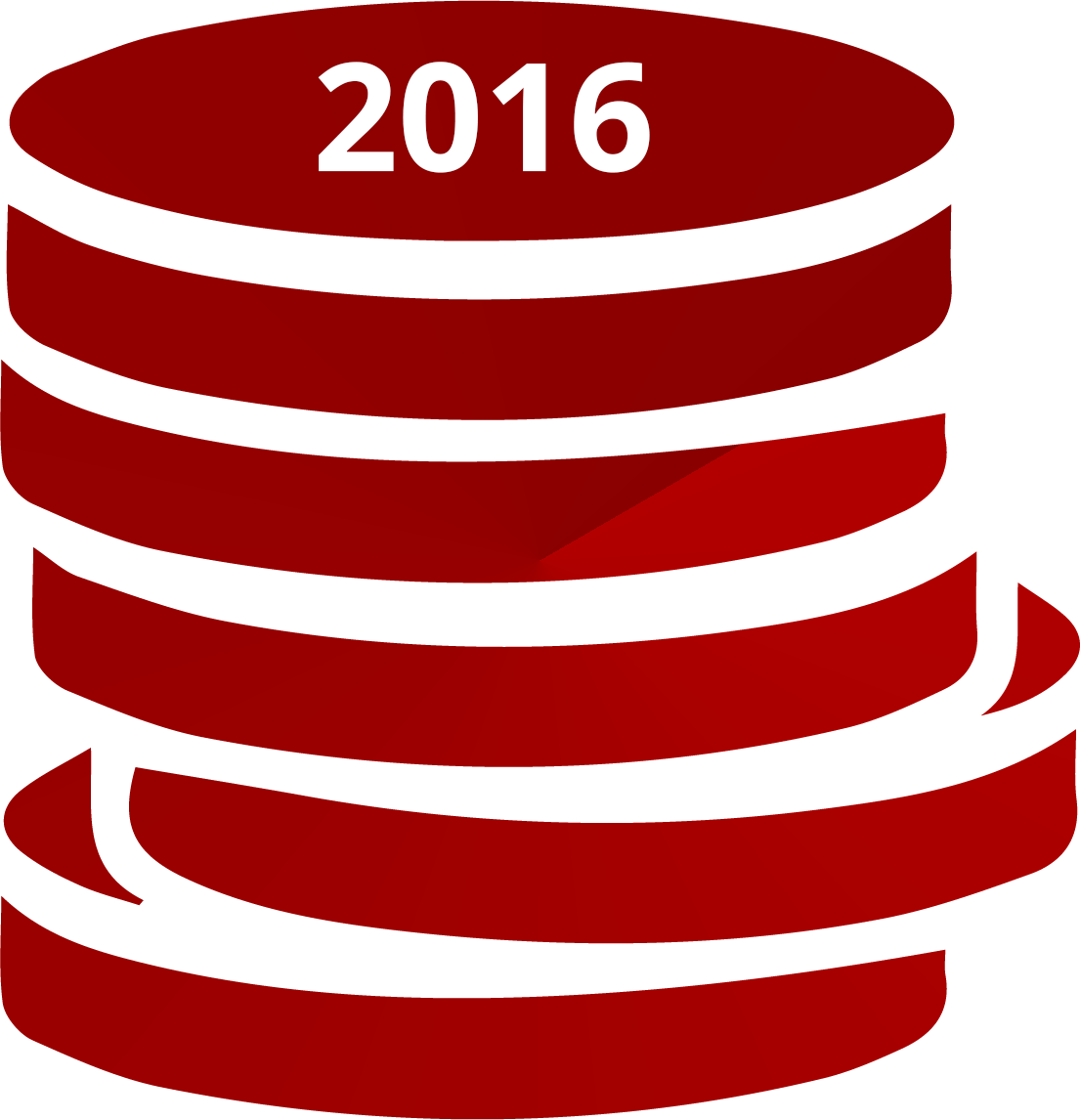 illustration of a stack of coins dated 2016