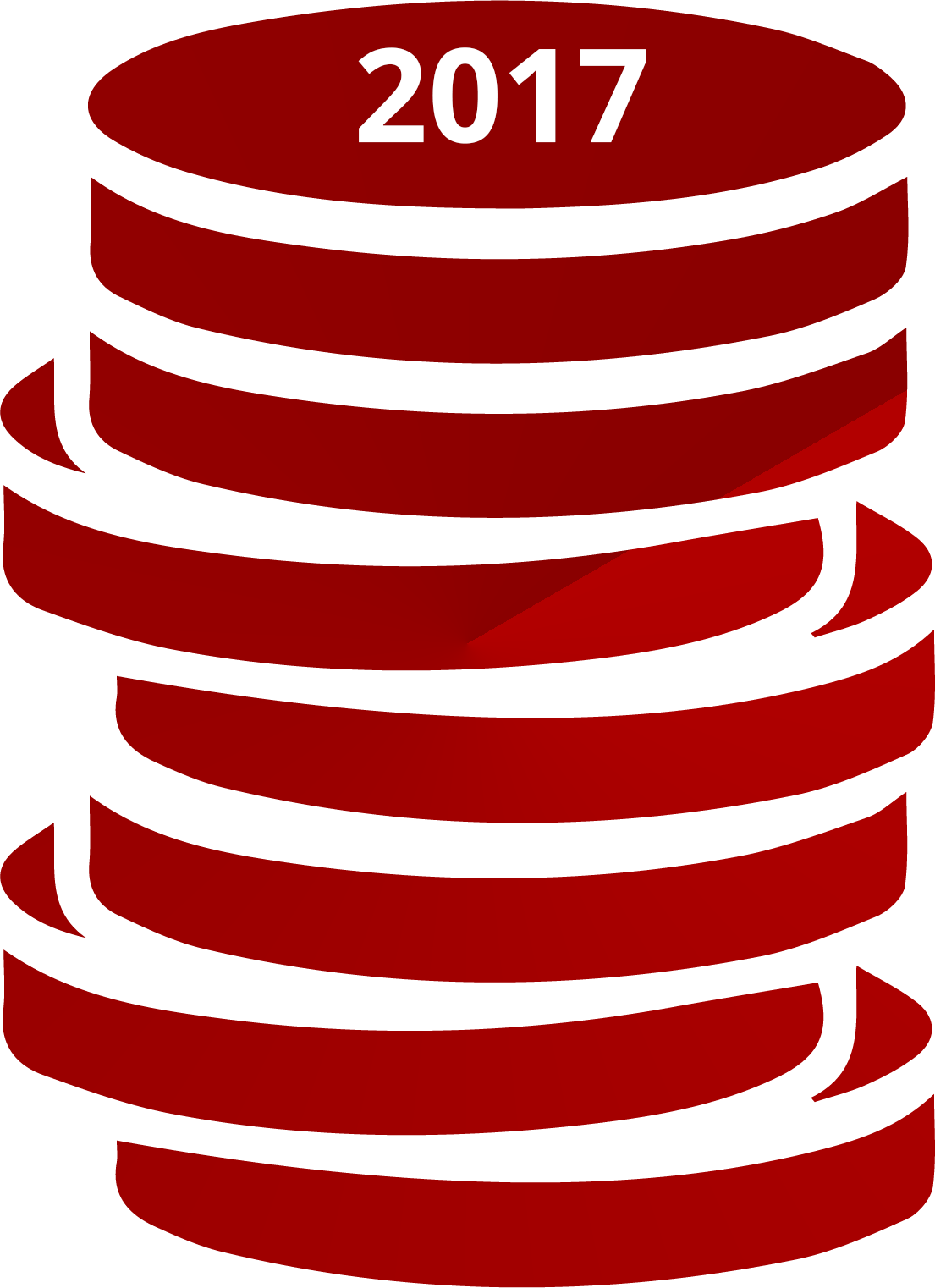 illustration of a stack of coins dated 2017