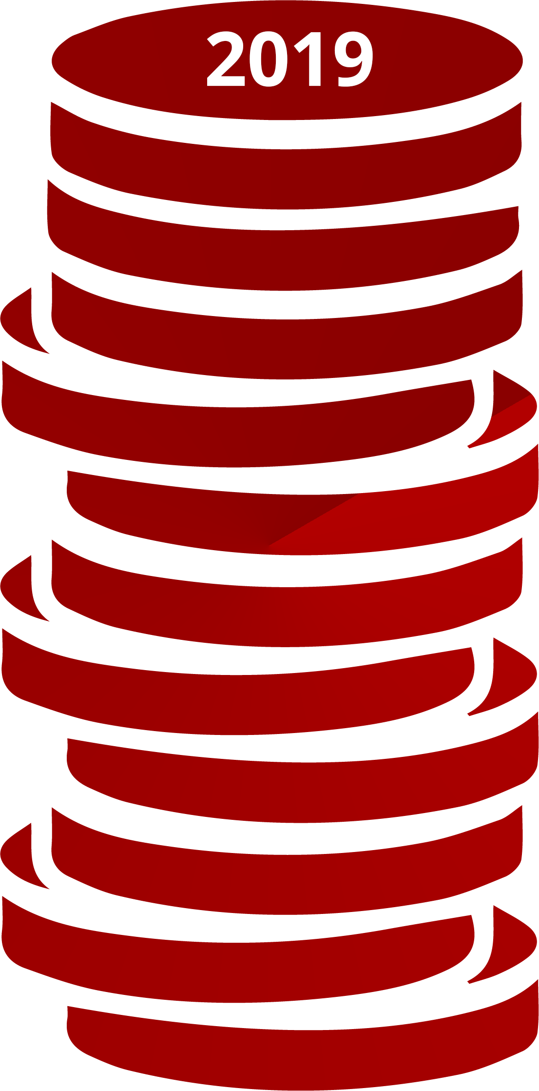 illustration of a stack of coins dated 2019