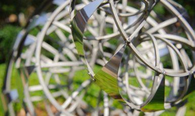 a sculpture in Woods Quad