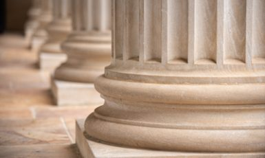 Columns in front of Gorgas Library