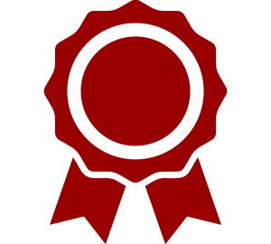 a ribbon of the type given with an award