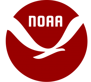 an abstract, simplified representation of the NOAA logo