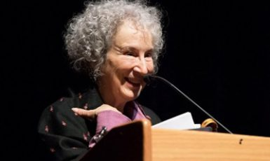 author Margaret Atwood, who spoke at UA (and used to teach here) recently