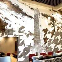 wall mural in Homewood Suites in Tuscaloosa